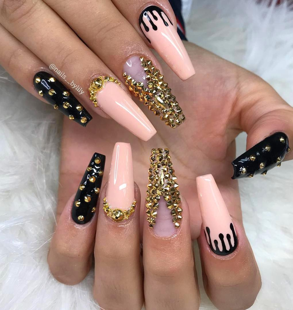 50 Simple  Acrylic Coffin Nails Designs Ideas for 2019