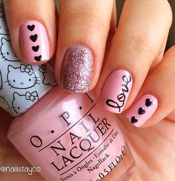 60 Simple Valentine's Day Nail Art Designs 2019