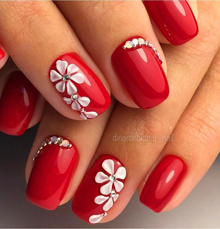 30 Super Cute Red Acrylic Nail Designs To Inspire You