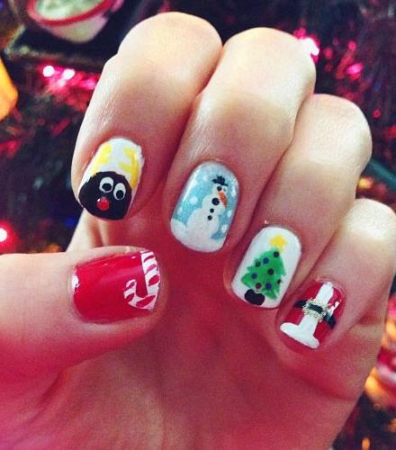 36 Unique Christmas Nail Art Designs For 2019