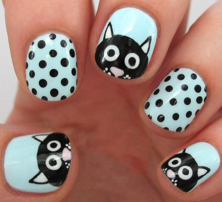 38 Cute Dotticure and Polka Dots Nail Arts Ideas
