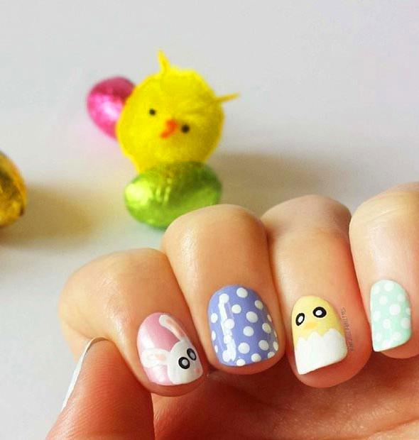 46 Easter Nail Art Designs and Ideas For 2019