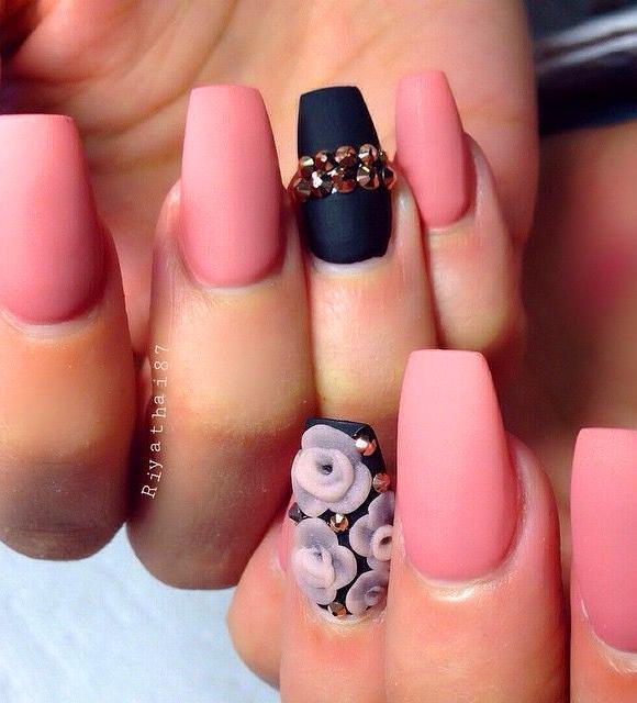 26 Cute Matte Nail Art Designs And Ideas You'll Love