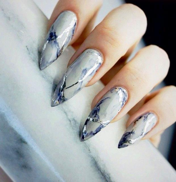 30 Granite Nail Art Designs You Will Like