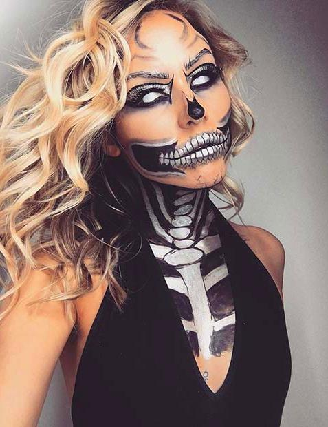 60 Best Halloween Makeup Looks That Are Creepy Yet Cute