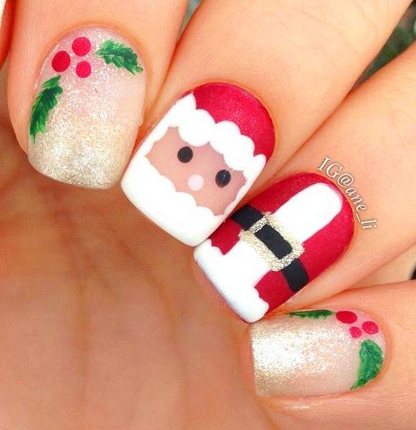 40+ Christmas Nail Art Ideas to Celebrate the Season