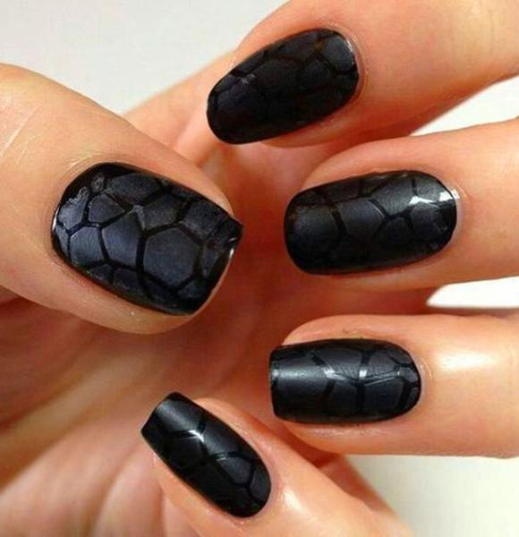 60+ Trendy Matte Black Nails Designs Inspirations For Ladies