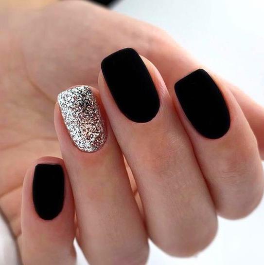 60+ Trendy Matte Black Nails Designs Inspirations For Ladies