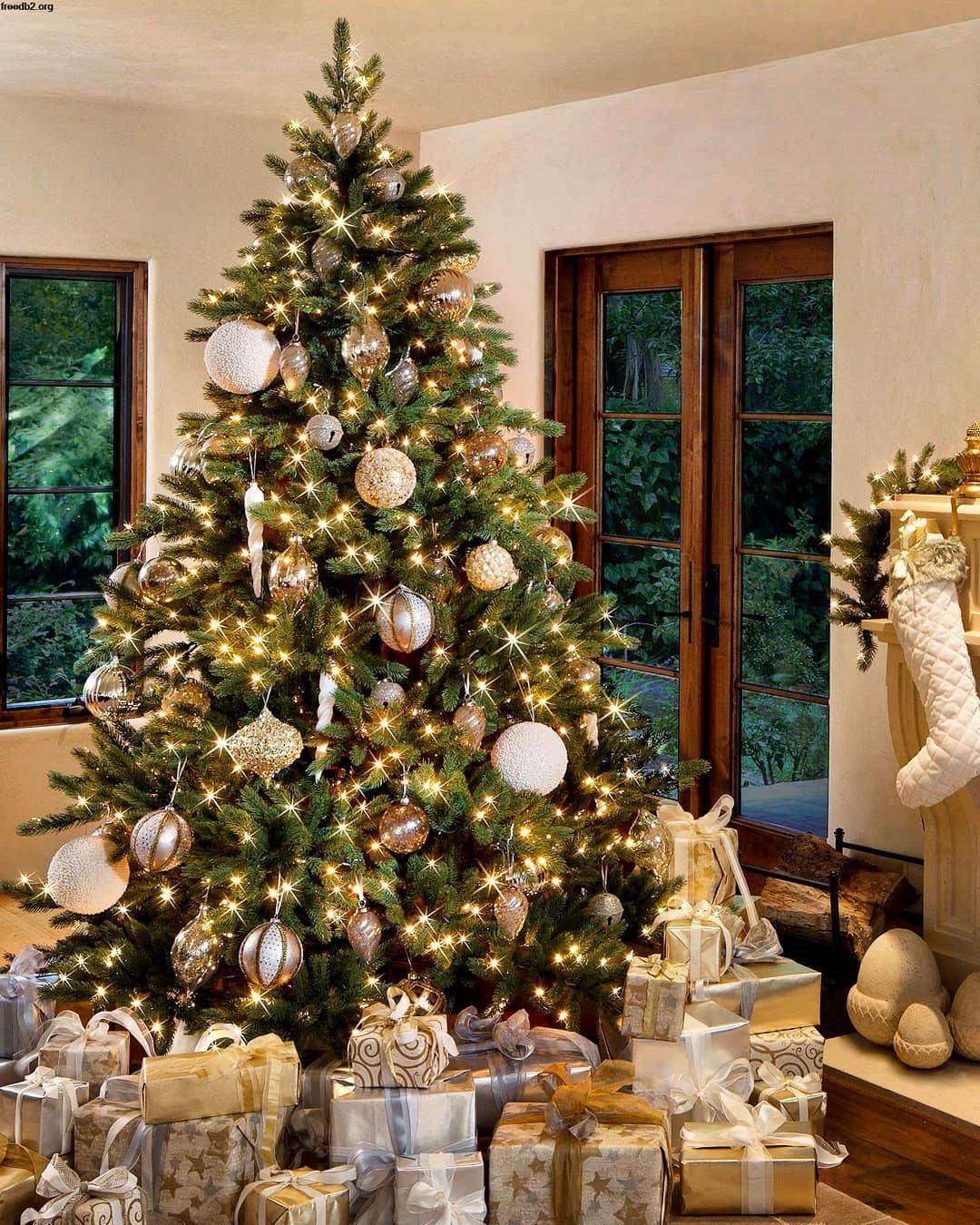 55 Cute Flocked Farmhouse Christmas Tree For 2019
