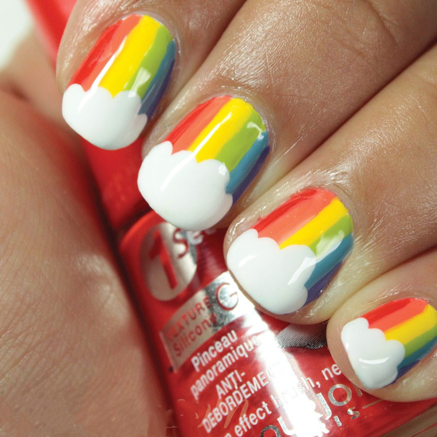 42 Pretty Ways to Wear Rainbow Sprinkle Nails This Summer