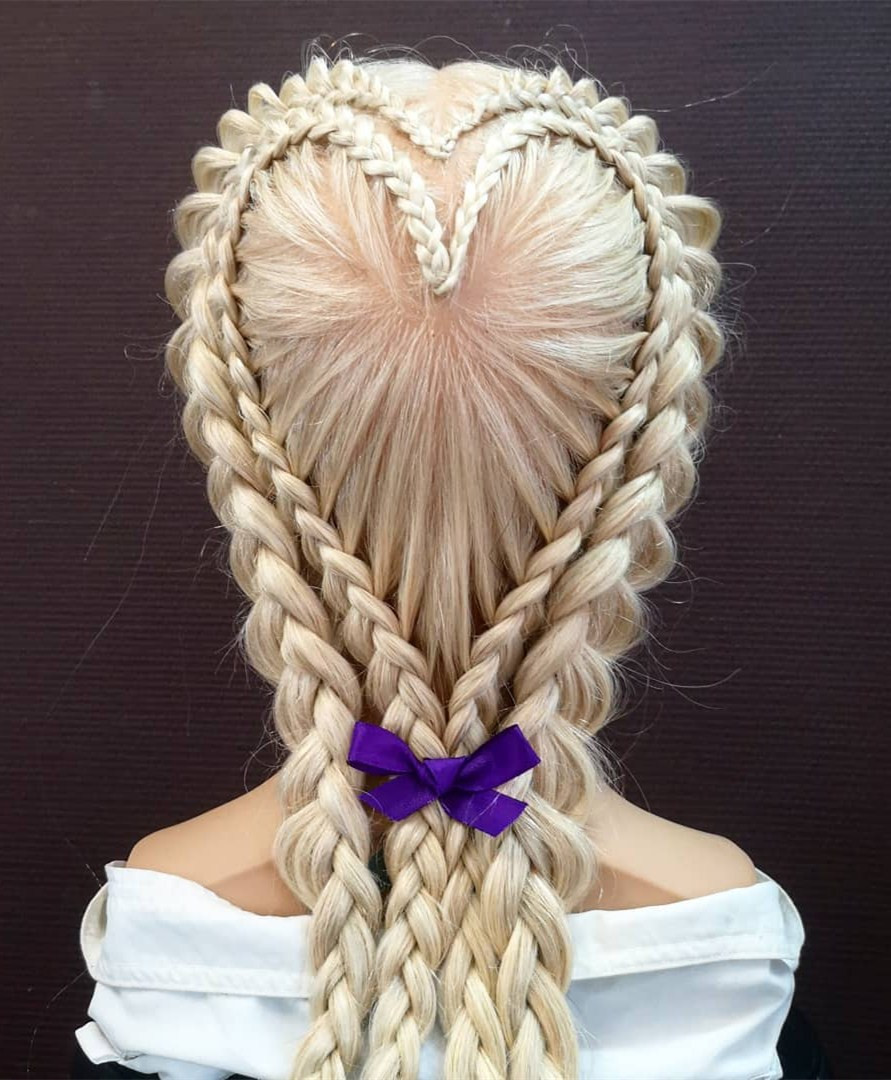 28 Gorgeous Multiple braids Hairstyles for Women in 2020,braids hairstyles 2019,braids hairstyles 2018 pictures,box braids hairstyles