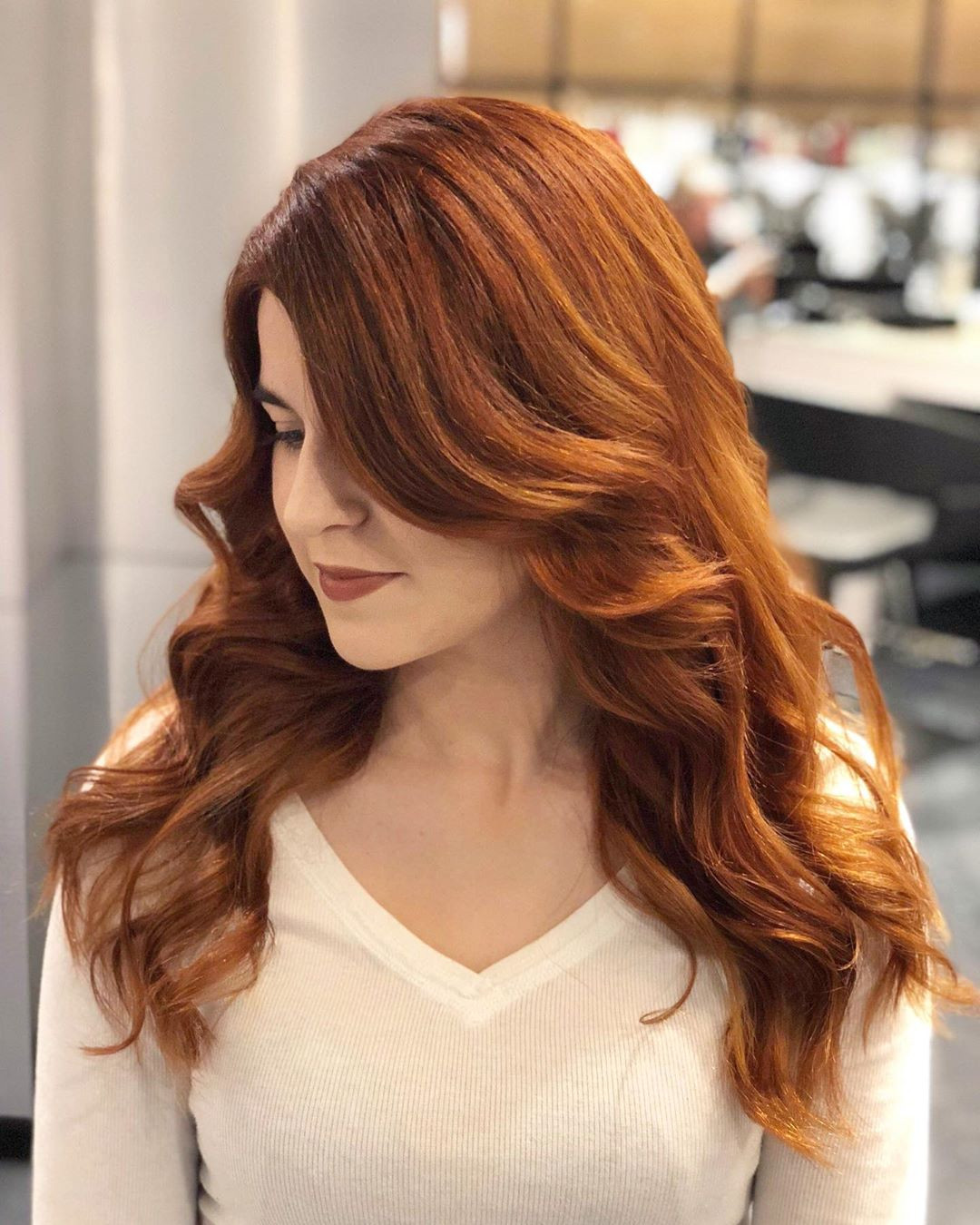 55 Best Auburn Hairstyles Colors You Are Sure to Love,auburn hair with highlights,long auburn hair,natural auburn hair