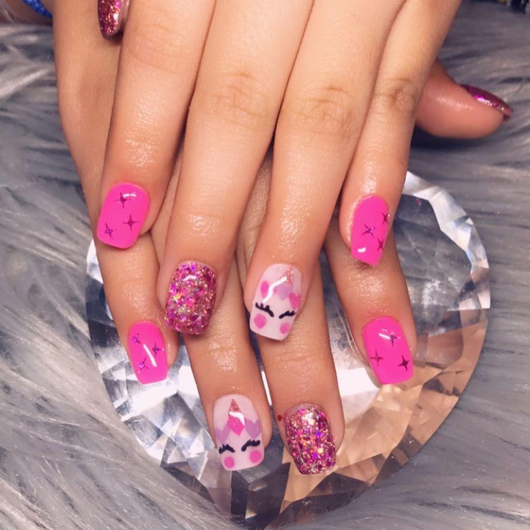 38 Magical Unicorn Nail Designs You Will Go Crazy For,unicorn nails color,unicorn nails polish,unicorn nails short,unicorn nails for kids,unicorn nails short