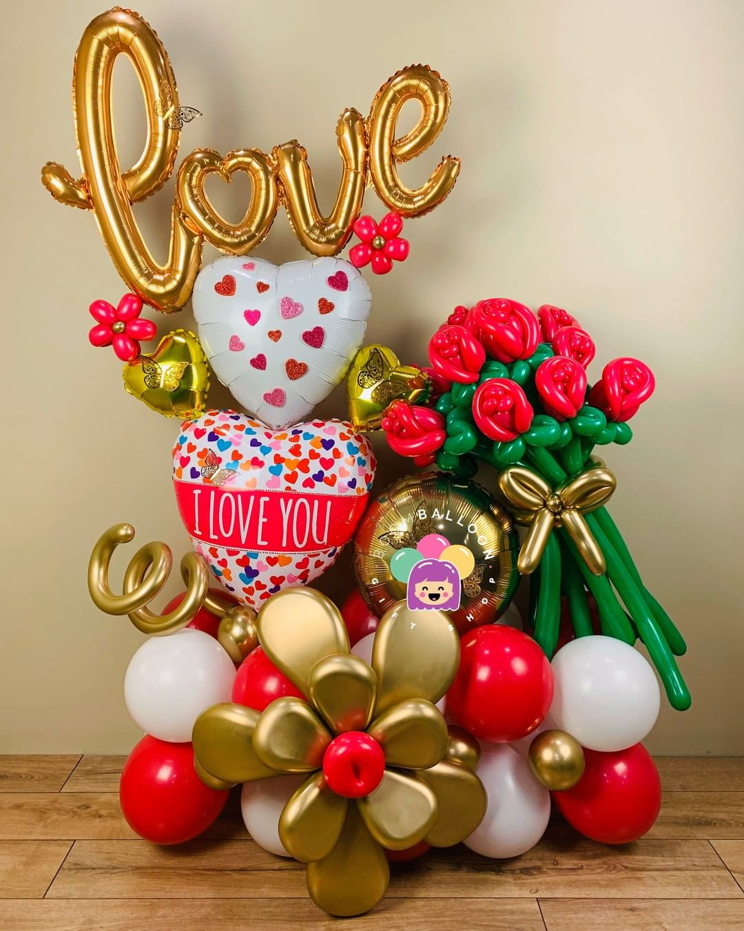 35 Valentine's Day Balloons Ideas You Haven't Tried Yet,valentine party decorations,love balloons,valentines hanging decorations