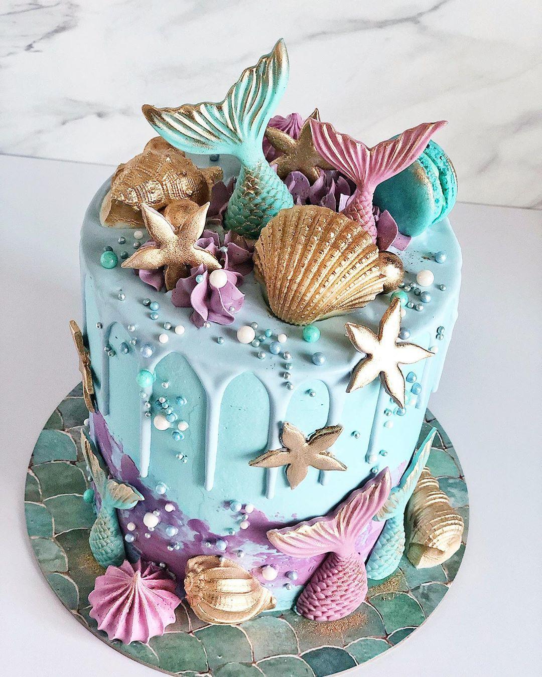 52 Mermaid Cakes Ideas You Are Sure to Love,mermaid cake ideas sheet cake,mermaid cake party ideas,mermaid cake template