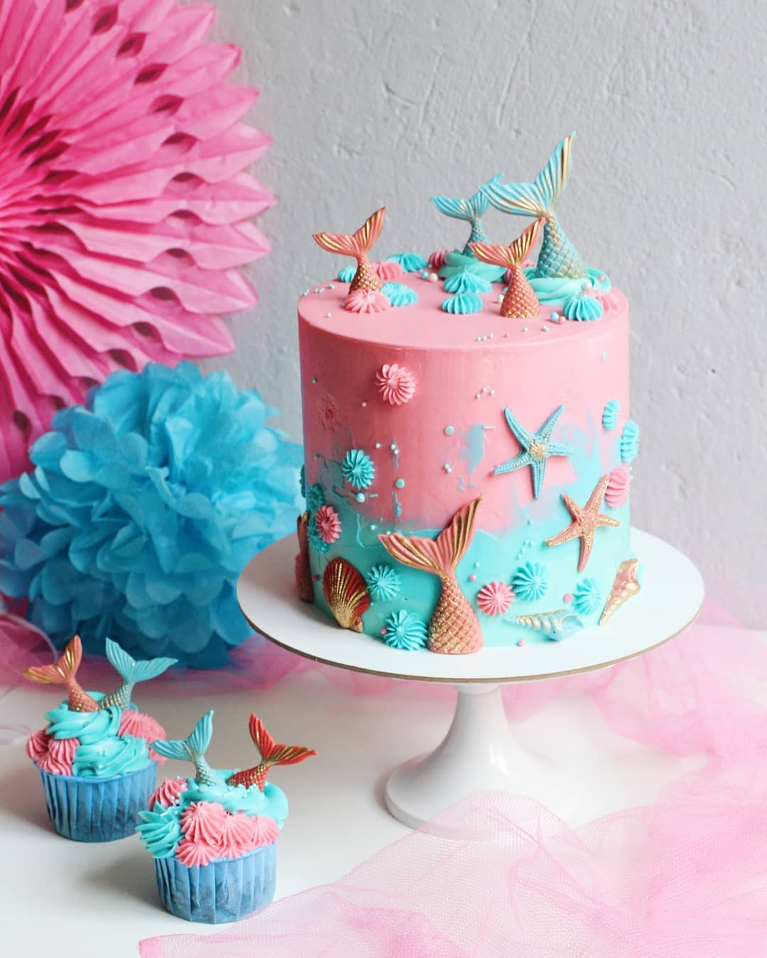 52 Mermaid Cakes Ideas You Are Sure to Love,mermaid cake ideas sheet cake,mermaid cake party ideas,mermaid cake template