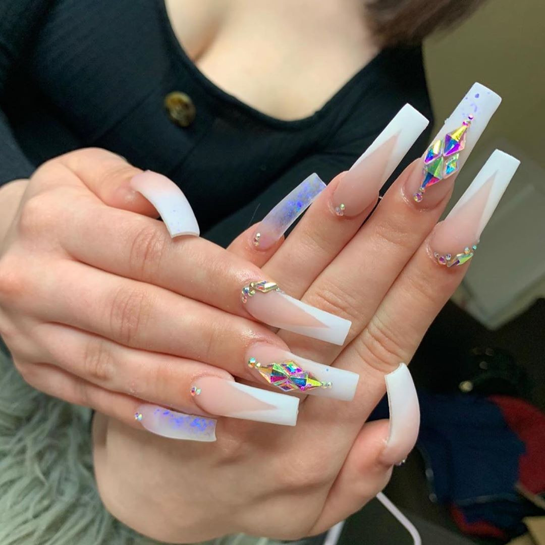 55 Long Acrylic Nail Ideas to Express Your Personality