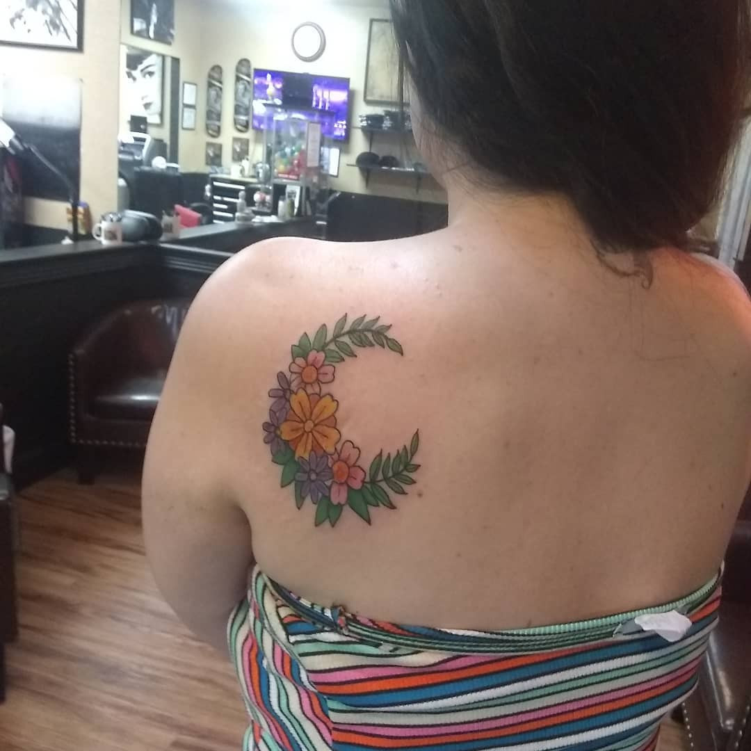 45 Moon Tattoos that will Illuminate your Imagination,realistic moon tattoos,full moon tattoos,moon tattoos meaning,full moon tattoos meaning
