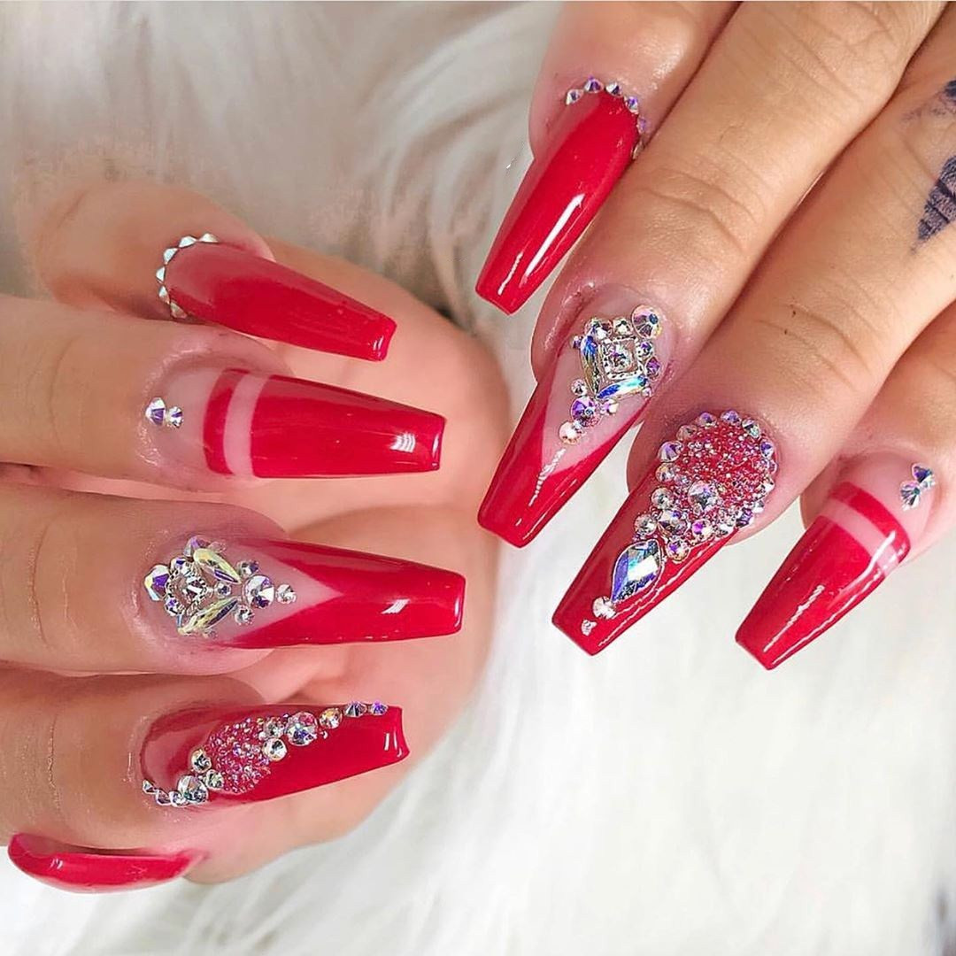65 Fierce Stiletto Nails To Copy in 2020,stiletto nails short,stiletto nails long,stiletto nails ombre,stiletto nails design