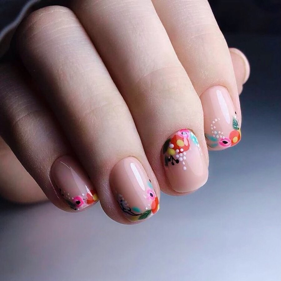 50 Coolest Spring Nail Designs to Try Now,spring nails 2020,spring nailsacrylic,spring nails colors,spring nails coffin